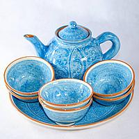Чайный сервиз голубой
