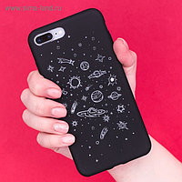 Чехол для телефона iPhone 7 Plus/8 Plus «Космос» soft touch, 16 × 8 см