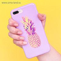 Чехол для телефона iPhone 7 Plus/8 Plus «Ананас», 16 × 8 см
