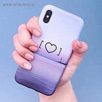 Чехол для телефона iPhone X/XS «Любовь это маяк» soft touch, 14.5 × 7 см