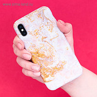 Чехол для телефона iPhone X/XS «Мрамор», 14.5 × 7 см