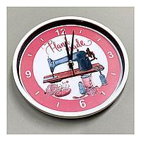 Часы с фото, принтом, 25 см диаметр