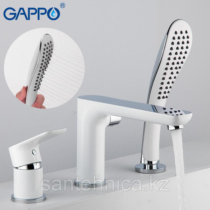 Смеситель для ванны Gappo G1148 белый