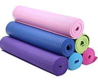 Коврик для йоги, фитнеса и пилатеса (6 мм). Подарки на 8 марта