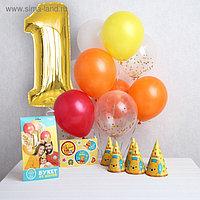 Набор для оформления праздника «Baby» + колпачки, наклейки, Медвежонок Винни и его друзья