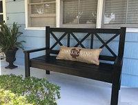Лавочка садовая деревянная G-008