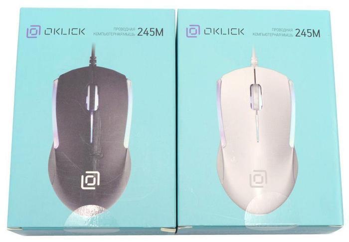Проводная Мышка Oklick 245М Белая