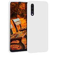 Чехол на телефон Белый Silicone Case Samsung A70