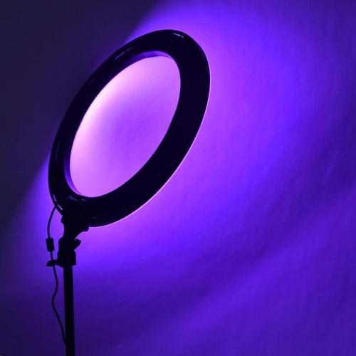 Кольцевая Лампа 36 см. Разноцветная