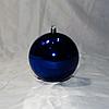 """Новогодняя игрушка на ёлку """"Шар"""" 10 см (цвет: синий)"""