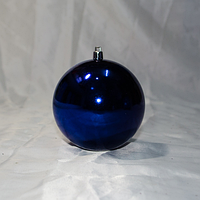 "Новогодняя игрушка на ёлку ""Шар"" 10 см (цвет: синий), фото 1"