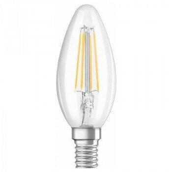 Лампа филаментная светодиодная C35 6w Е14 6400К пуля Заря