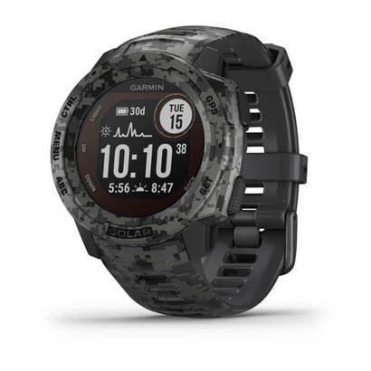 Часы Instinct Solar, Camo Edition, GPS Watch, Graphite Camo, WW