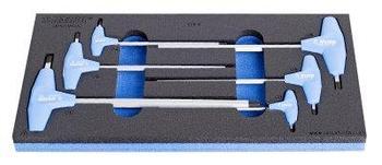 Набор ключей шестигранных с Т-образной рукояткой в SOS-ложементе - 964/13ASOS UNIOR