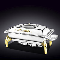 """GLASS LID RECTANGULAR CHAFING DISH WITH STAND 23"""" X 18"""" X 12"""" 