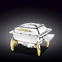 """GLASS LID SQUARE CHAFING DISH WITH STAND 18"""" X 16"""" X 13"""" 