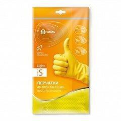Перчатки хозяйственные латексные в инд. упаковке,пара. Light. Желтые. Размер S