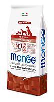 Monge Сухой корм для щенков всех пород, ягненок