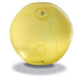 Пляжный мяч из прозрачного ПВХ, AQUA Желтый