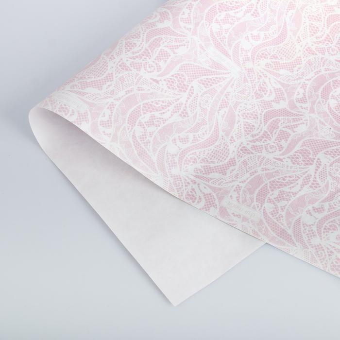 Бумага упаковочная крафтовая «Кружево», 50 × 70 см