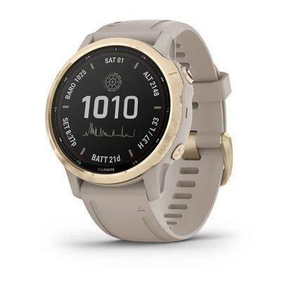 Спортивные часы Fenix 6S Pro Solar, Lt.Gold w/ Lt. Sand Band,GPS Watch,EMEA