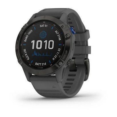 Спортивные часы Fenix 6 Pro Solar,Black w/Slate Gray Band,GPS Watch,EMEA