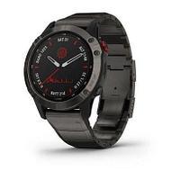 Спортивные часы Fenix 6 Pro Solar,Ti,Carbon Gray DLC w/Ti DLC Band,GPS,EMEA