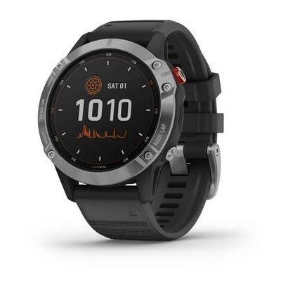 Спортивные часы Fenix 6S Solar, Silver w/Black Band,GPS Watch,WW