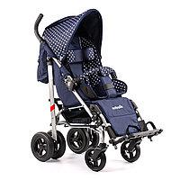 Детская инвалидная кресло-коляска ДЦП UMBRELLA, размер 2, комнатная Белый горох-синий