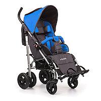 Детская инвалидная кресло-коляска ДЦП UMBRELLA, размер 2, комнатная Синий