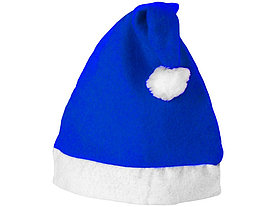 Новогодняя шапка, ярко-синий/белый