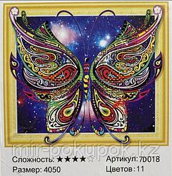 """Алмазная вышивка """"Волшебная бабочка"""" 7Д 40*50 см"""