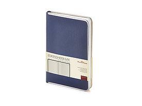 Ежедневник А5 недатированный Chelsea, синий (серебристый кант и срез)