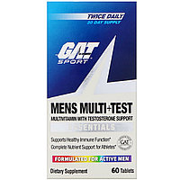 GAT, Mens Multi + Test, Мультивитамины и тестостерон для мужчин , 60 таблеток