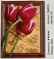 "Картина из страз ""Тюльпаны "" 7Д 40*50 см"