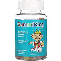 GummiKing, Омега-3 ДГК + ЭПК для детей, 60 жевательных конфет