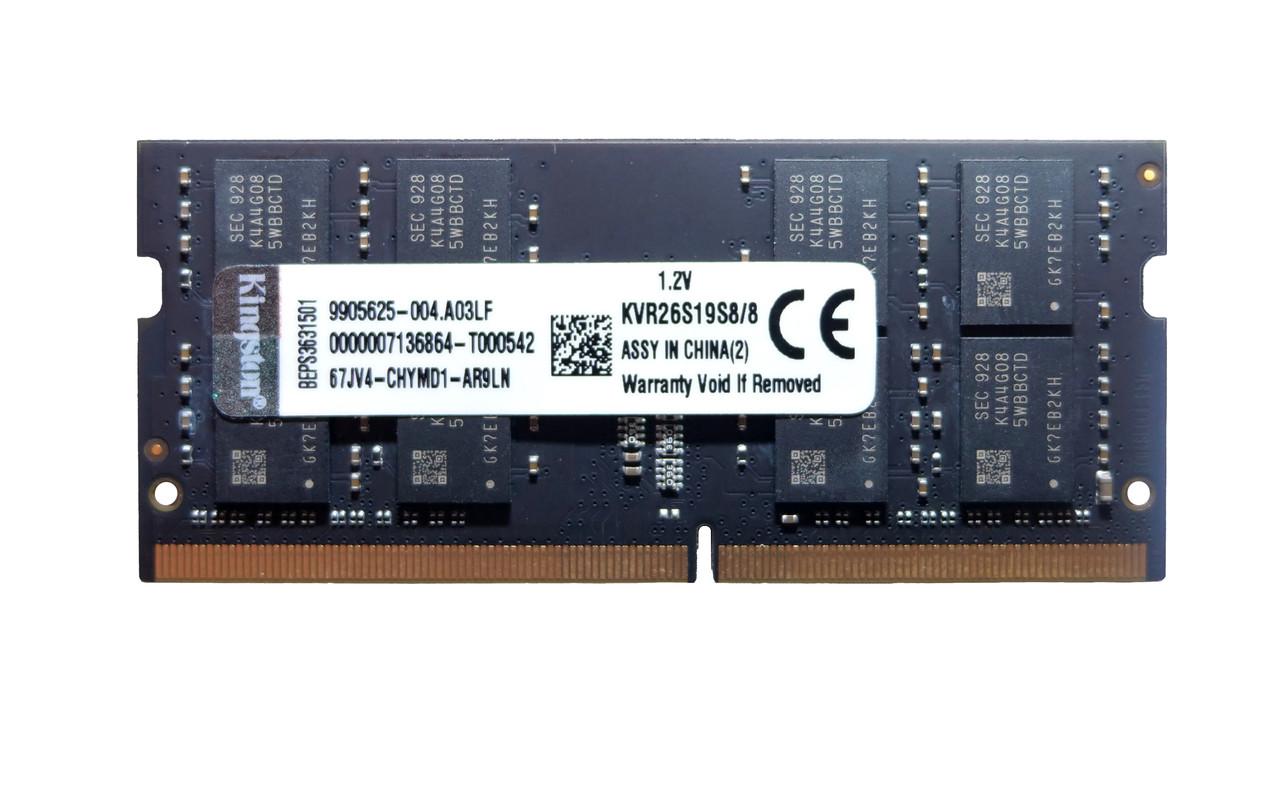 Оперативная память SODIMM DDR4 8GBKingston KVR26S19S8/8
