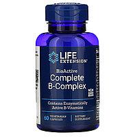 Life Extension, полный биоактивный комплекс витаминов группы B, 60 растительных капсул