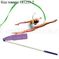 Лента гимнастическая для танцев 360 см фиолетовая
