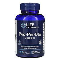 Life Extension,Высокоэффективная добавка с мультивитаминами и микроэлементами, 120 капсул