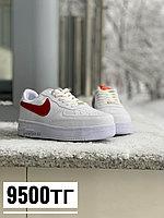 Кеды Nike air force 1 low белые беж лого, фото 1