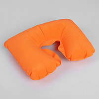 Подушка для шеи дорожная, надувная, 38 × 24 см, цвет оранжевый