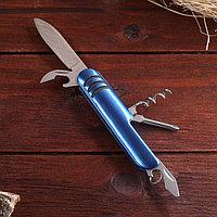 Нож швейцарский Мастер К 5в1, синий, 3 полоски, фото 1
