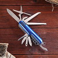 Нож швейцарский Мастер К 11в1, синий