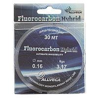 Леска ALLVEGA Fluorocarbon Hybrid 0,16 мм, 30 м