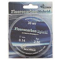 Леска ALLVEGA Fluorocarbon Hybrid 0,14 мм, 30 м