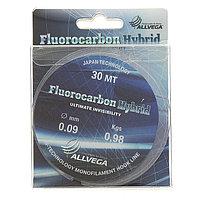 Леска ALLVEGA Fluorocarbon Hybrid 0,09 мм, 30 м