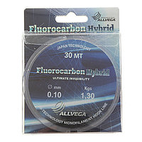 Леска ALLVEGA Fluorocarbon Hybrid 0,10 мм, 30 м