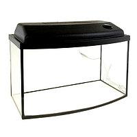 Аквариум телевизор с крышкой, 65 литров, 60 х 33 х 35/41 см, чёрный