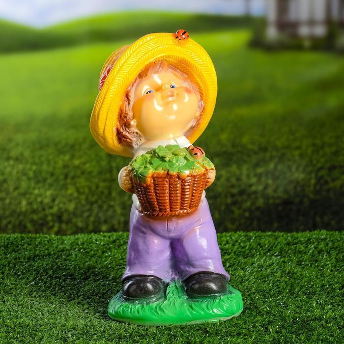 """Садовая фигура """"Мальчик в шляпе"""" 15х15х30см - фото 1"""
